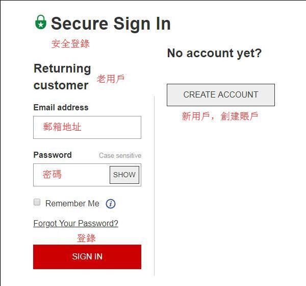 登錄註冊頁面